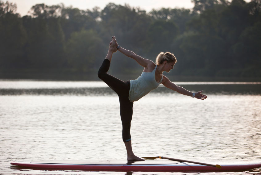 Paddleboard Yoga Practice