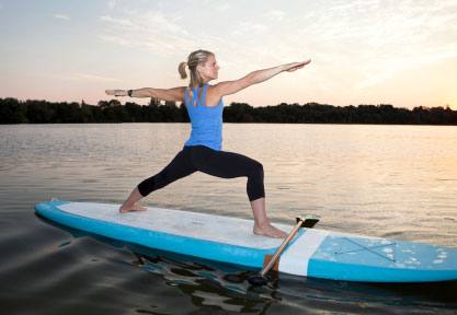 SUP Yoga Warrior Pose