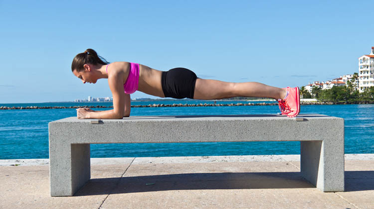 Planks are the best core exercise for SUP