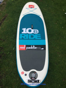 Red, white blue SUP board