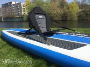 SUP with a kayak seat