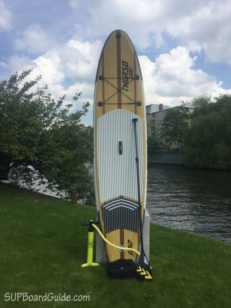 Paddle and Pump for Thurso board