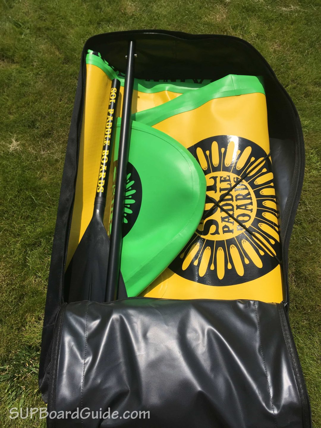 SOL Paddle Boards backpack