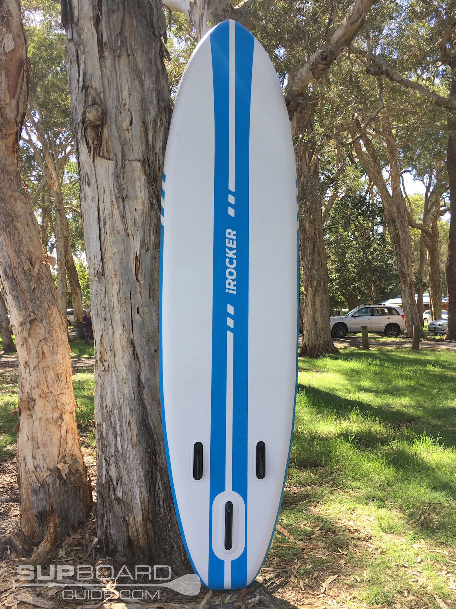 Blue and White SUP Board