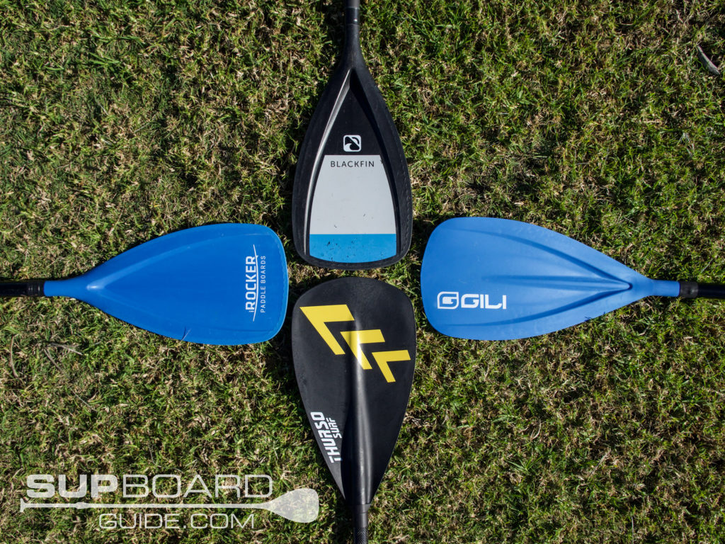 Different SUP Paddles