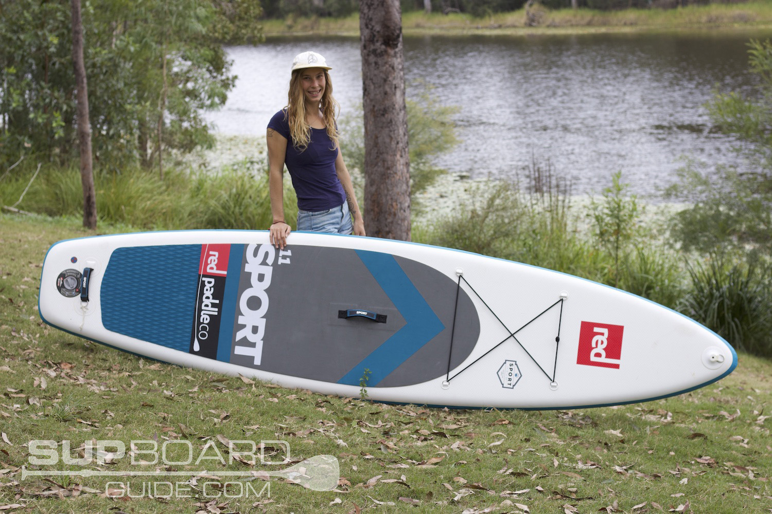 Girl with Red Paddle Co SUP