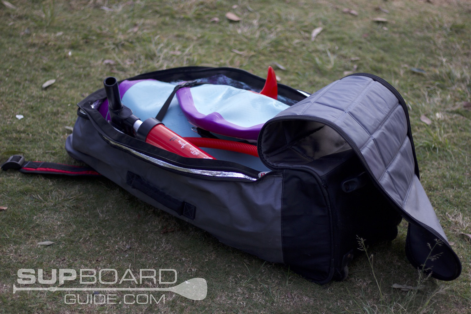 Packed up SUP bag