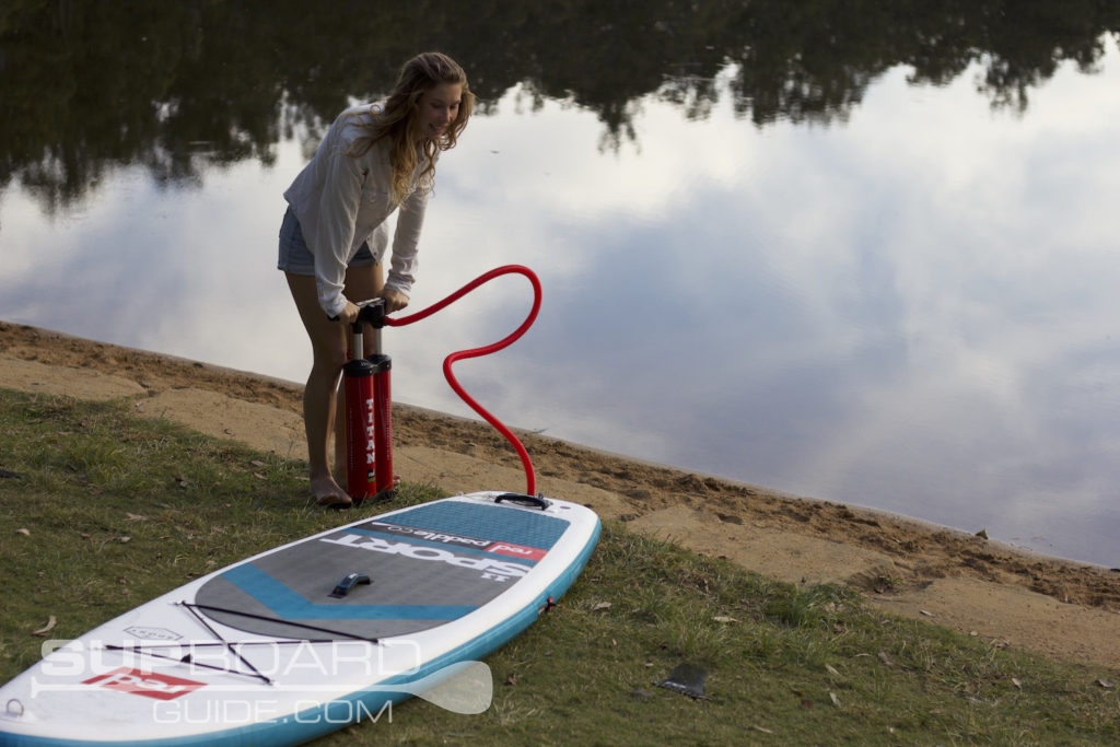 Inflating Paddleboard