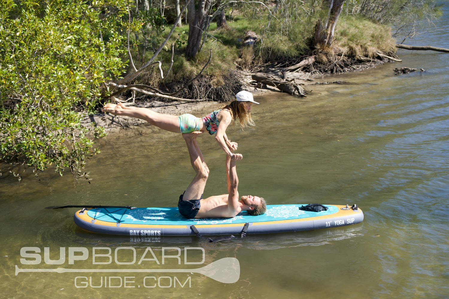 Acro Yoga Inflatable Paddle Board
