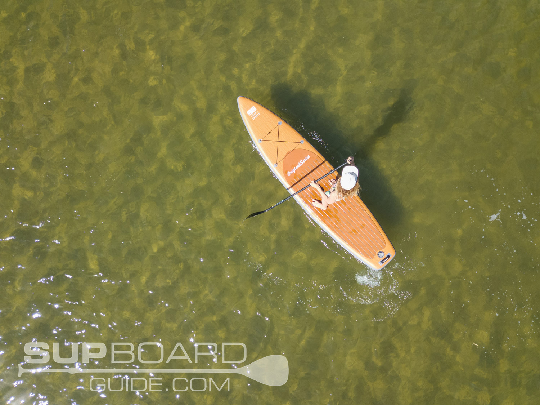 Paddling SUP Drone Shot