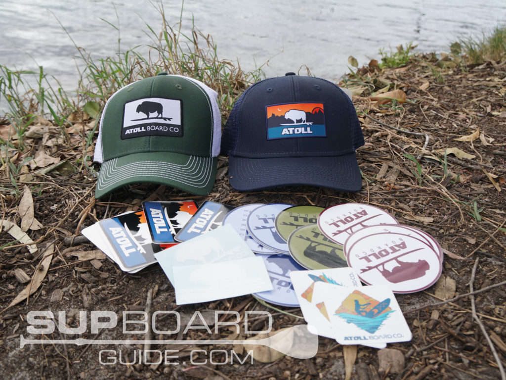 Atoll hat and stickers