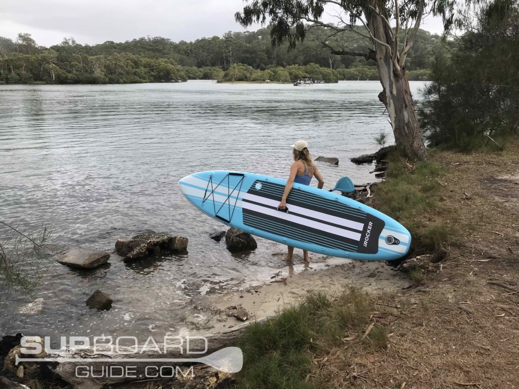 Taking SUP to river
