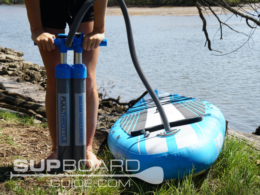 Hand pumping SUP