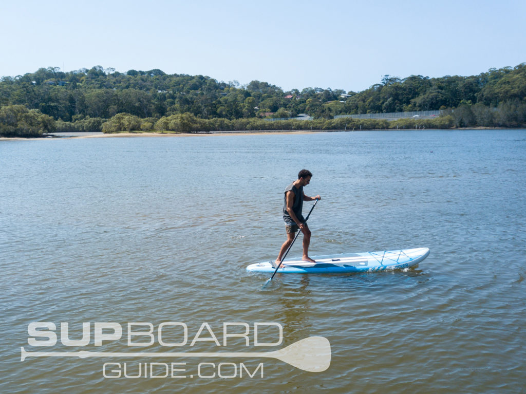 Backfoot turn paddleboard