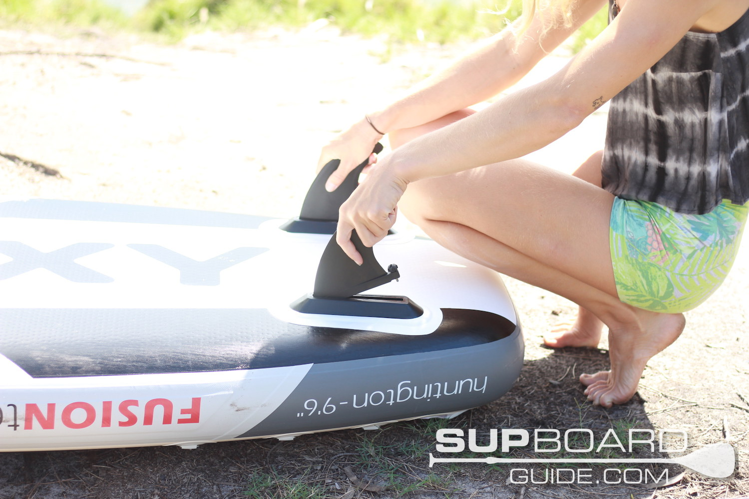 Placing Fins In SUP
