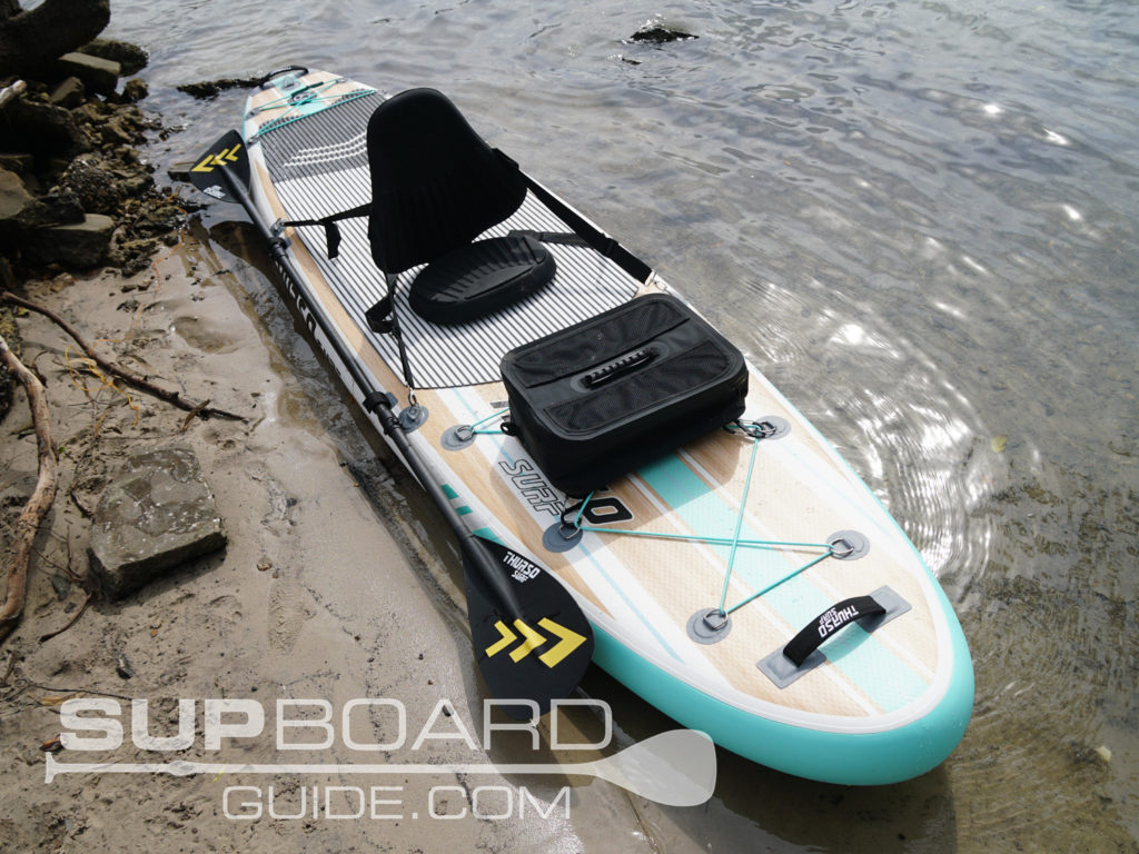 SUP seat and blade kayak conversion