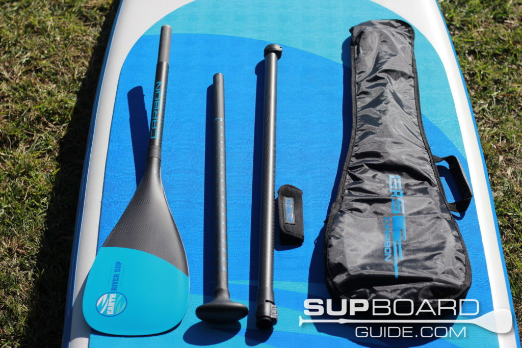 Carbon SUP paddle and bag