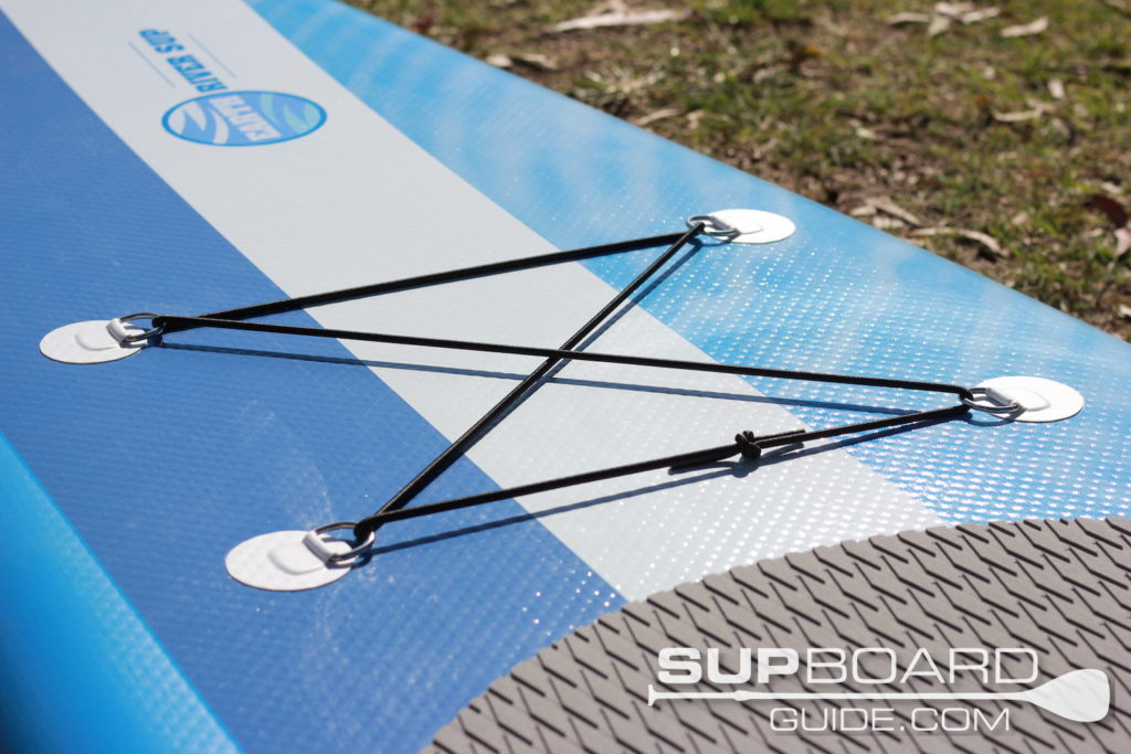 Deck bungee on SUP