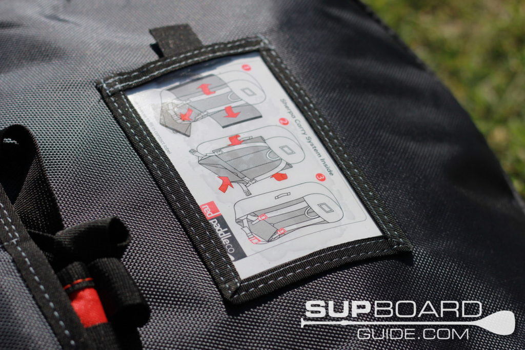 Carrying instructions for SUP