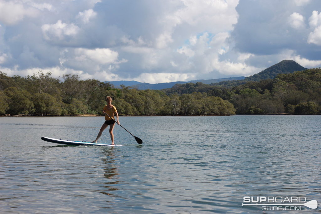 Turning SUP in river