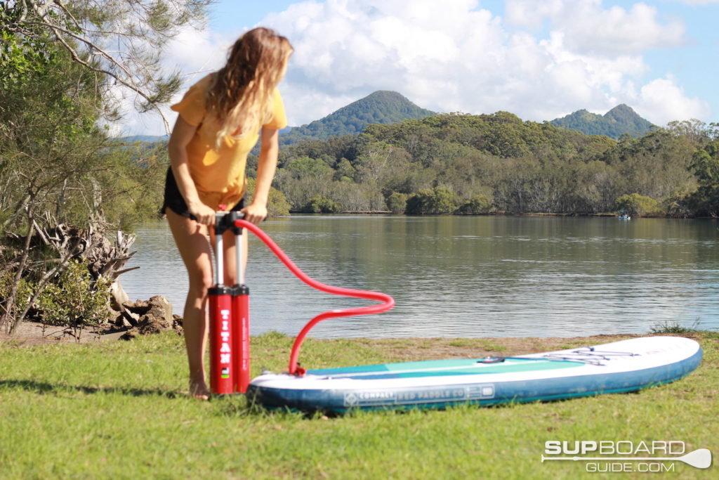 Hand pumping RPC SUP
