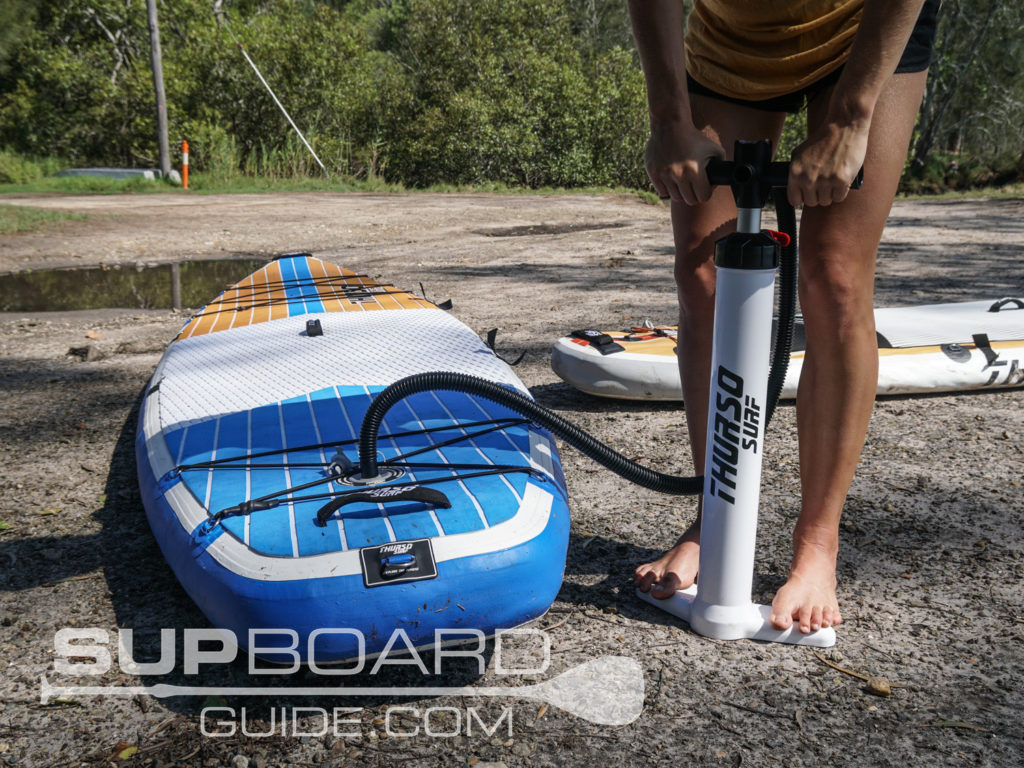 hand pumping inflatable SUP