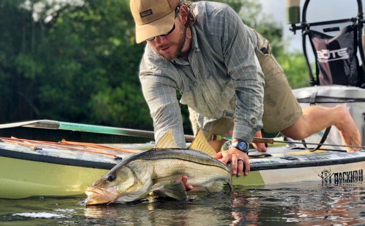 Bass Fishing on Paddleboard