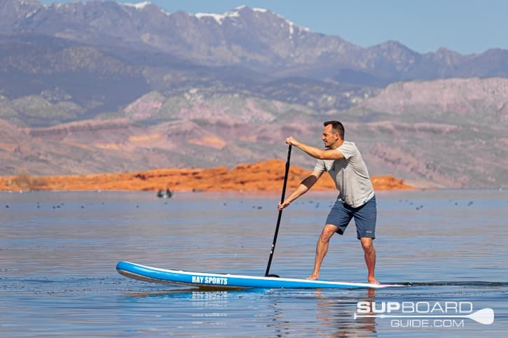 Bay Sports 10'6 Explore Inflatabel SUP Maneuverability