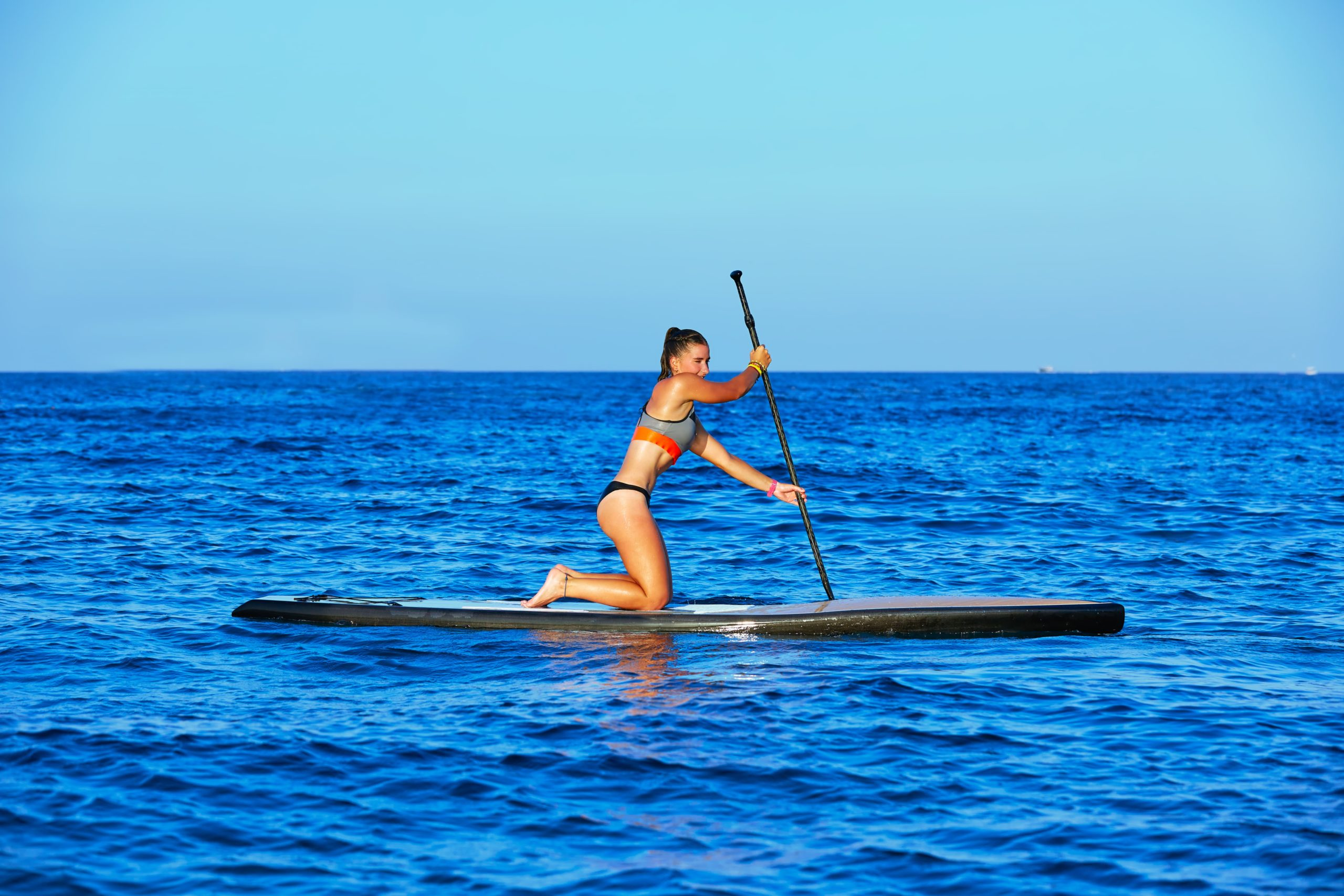 Paddle Boarding Into The Wind