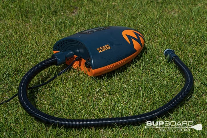 SUP Board Guide Best Electric Pumps OutdoorMaster Shark SUP Air Pump