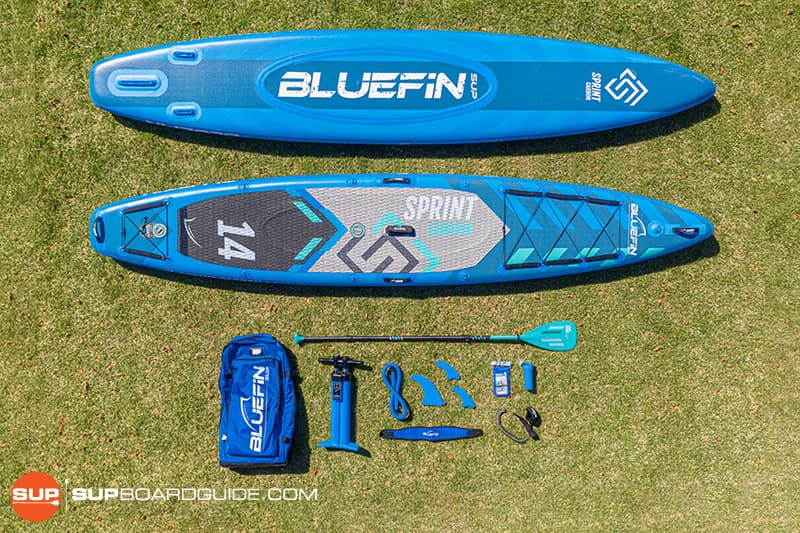 SUPBoardGuide Bluefin Carbon Sprint All Included
