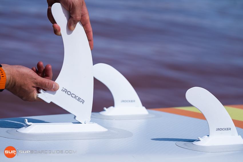 iRocker Cruiser SUP Review Tri Fin Setup