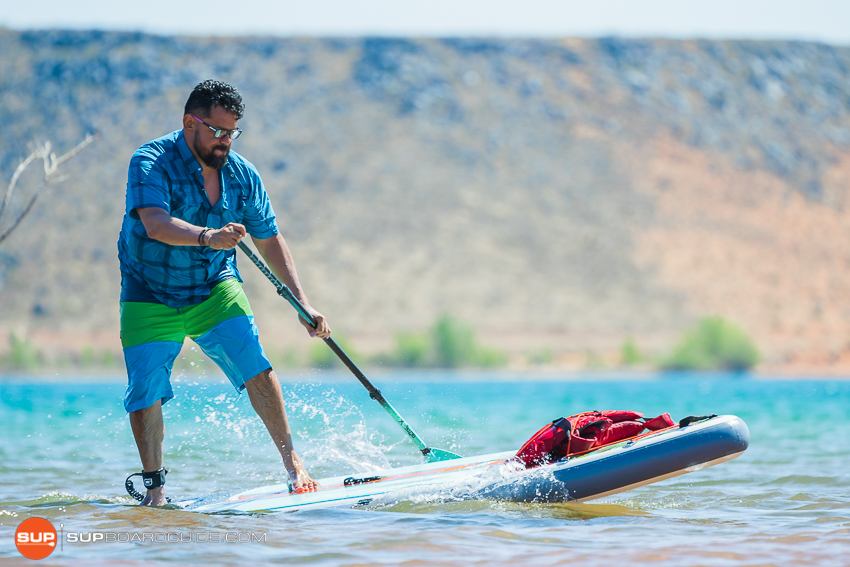 Bote Breeze Inflatable Paddle Board Review Backstep Turn