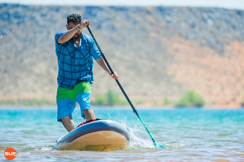 Bote Breeze Inflatable Paddle Board Review Stepback Turn