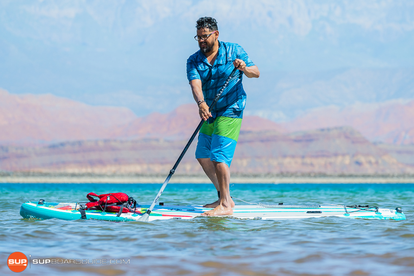 Bote Flood Inflatable SUP Review Maneuvering