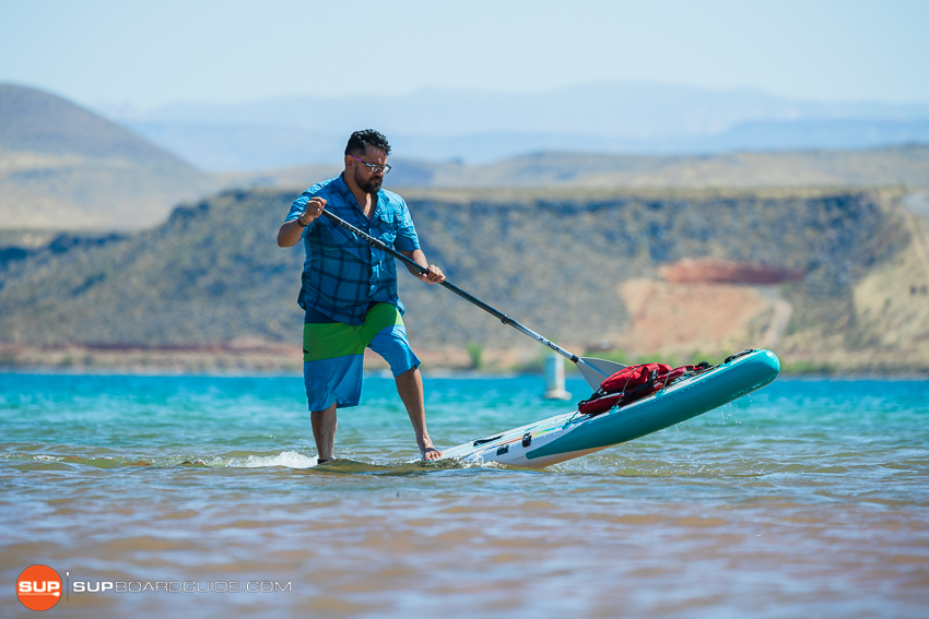 Bote Flood Inflatable SUP Review backfin turn