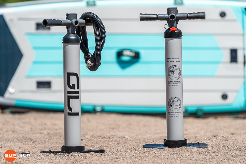Gili Sports Adventure 12' Inflatable SUP Review Single Chamber Pump