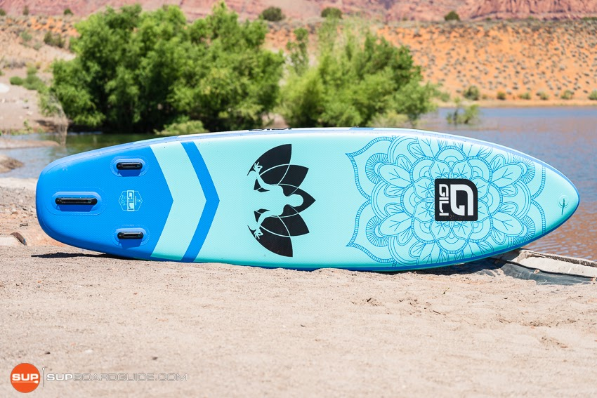 Gili Komodo Inflatable Yoga SUP Review Bottom Board Design