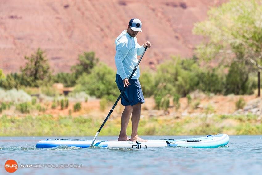 Gili Komodo Inflatable Yoga SUP Review Maneuvering