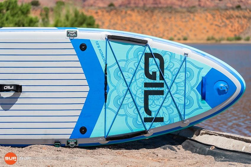 Gili Komodo Inflatable Yoga SUP Review Nose Cargo