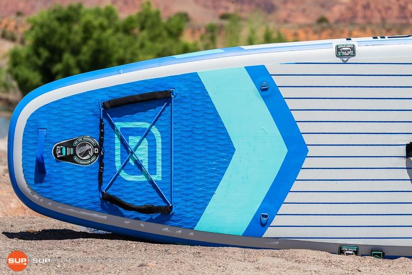 Gili Komodo Inflatable Yoga SUP Review Tail Deckpad
